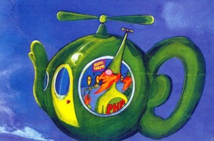 Flying Teapot piloted by a Pot-Head Pixie